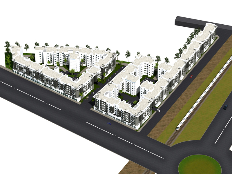 Plan de Masse projet economique AL ARSAT Bouskoura