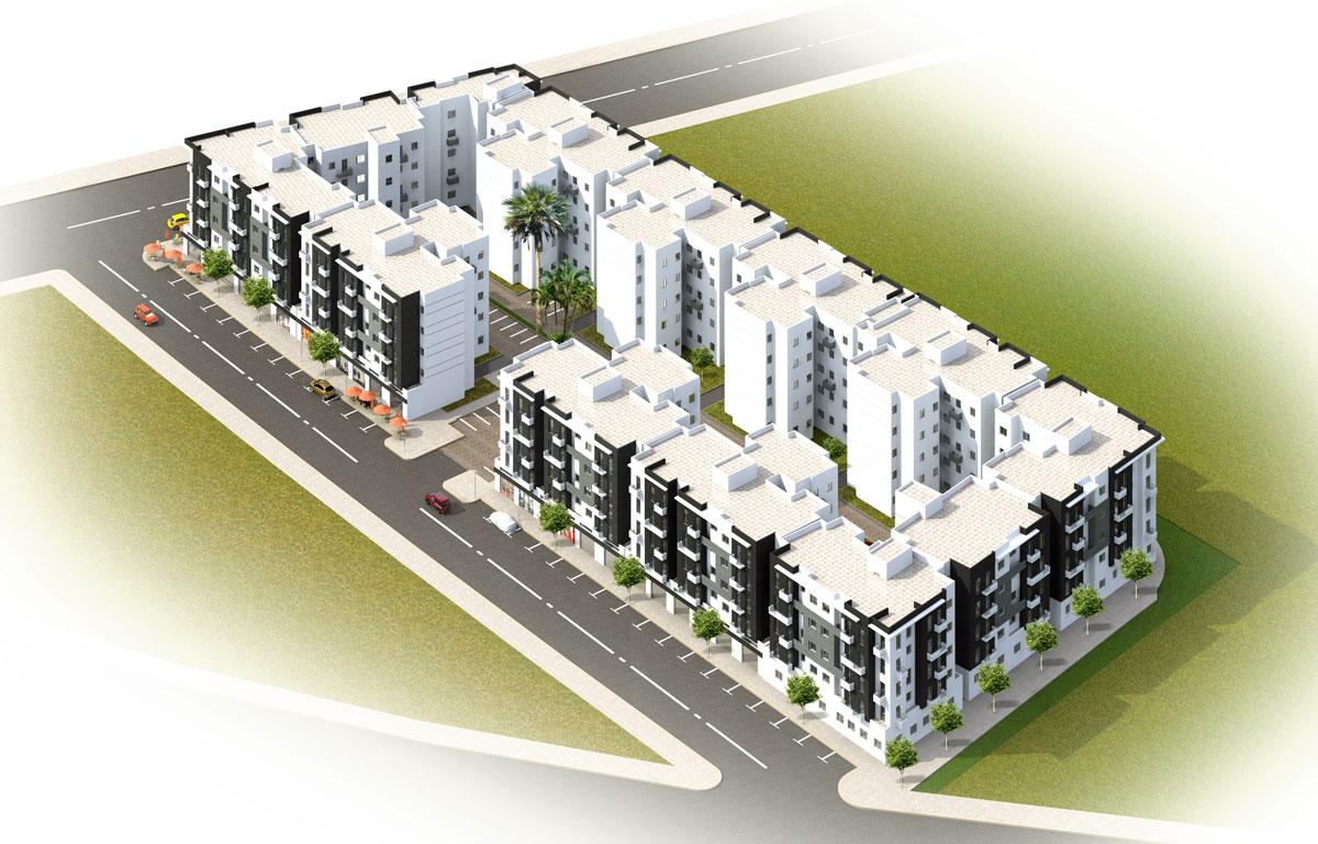 plan de masse projet economique AL ARSAT Al Amane