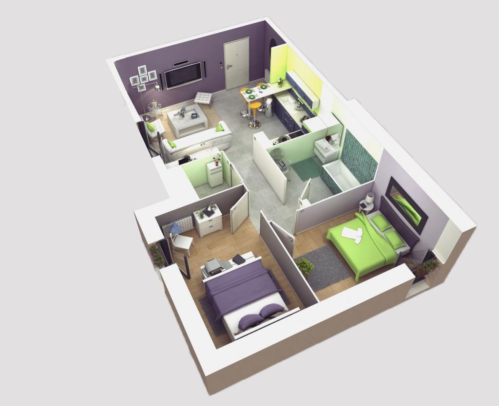 plan d'appartement projet economique AL ARSAT Al Amane
