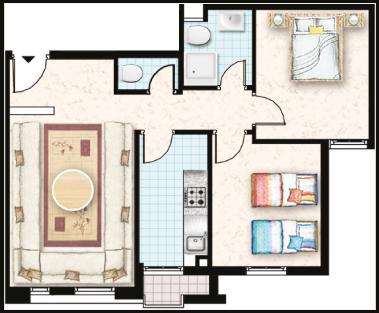 plan d'appartement projet economique Al arsat lissasfa