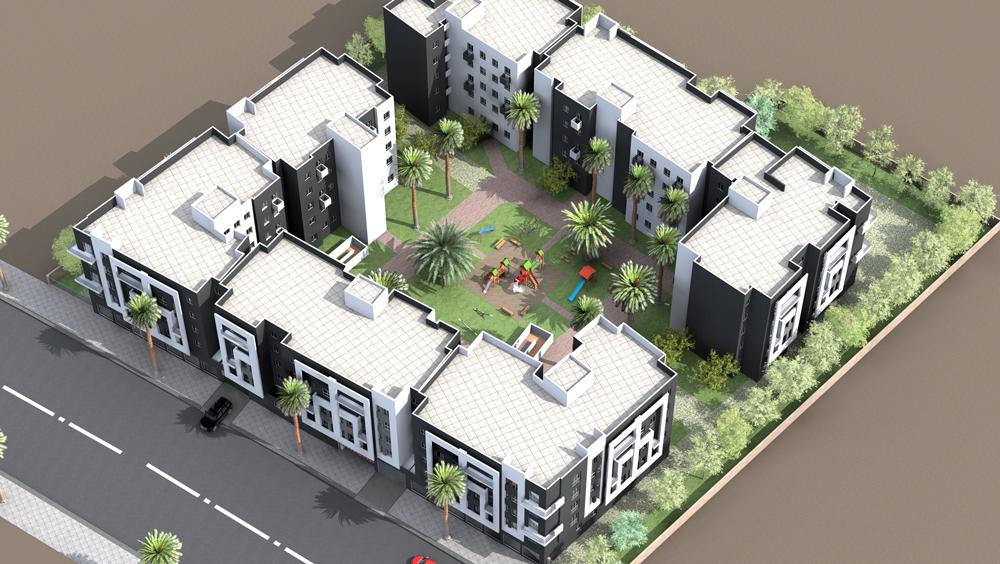plan de masse projet economique Al arsat lissasfa