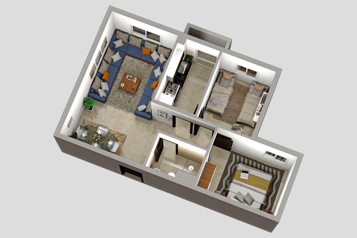 مخطط الشقة مشروع اقتصادي العرصة برنوصي